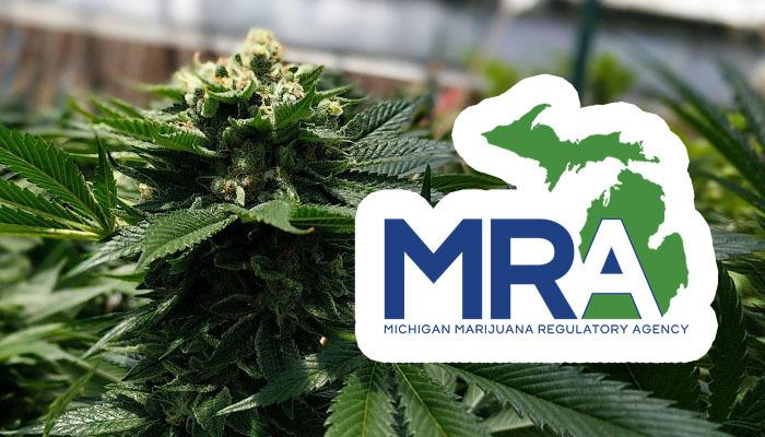Michigan's Marijuana Regulatory Agency (MRA) logo and cannabis