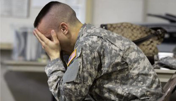 soldier with mental health veteran mental health image