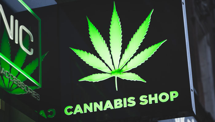cannabis shop sign in new york